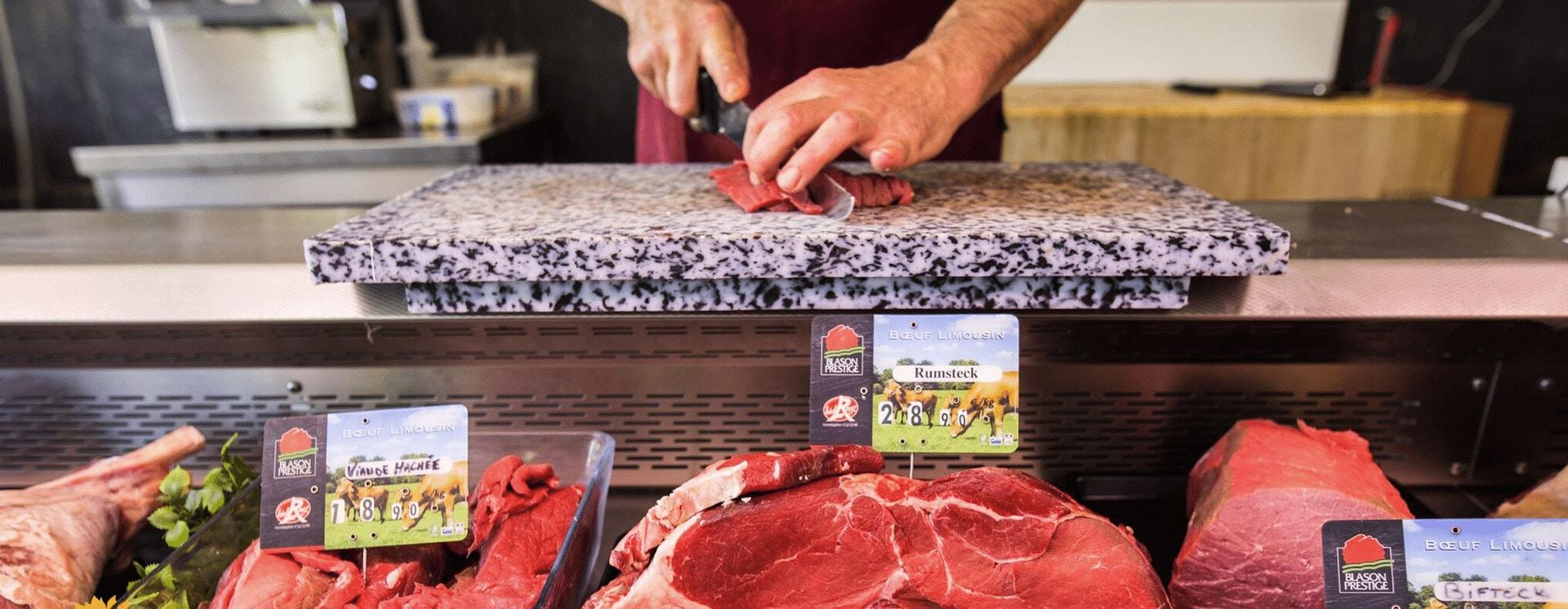 Photo de la table du boucher